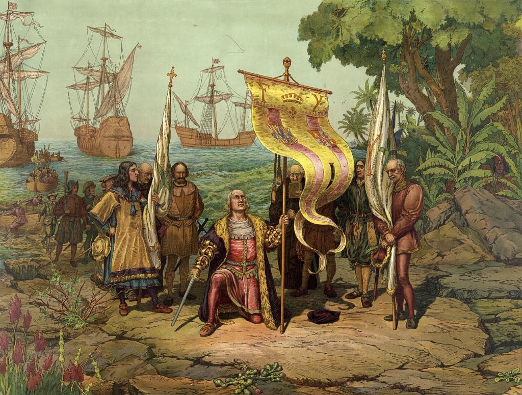 Colombo sbarca sull'isola del nuovo continente