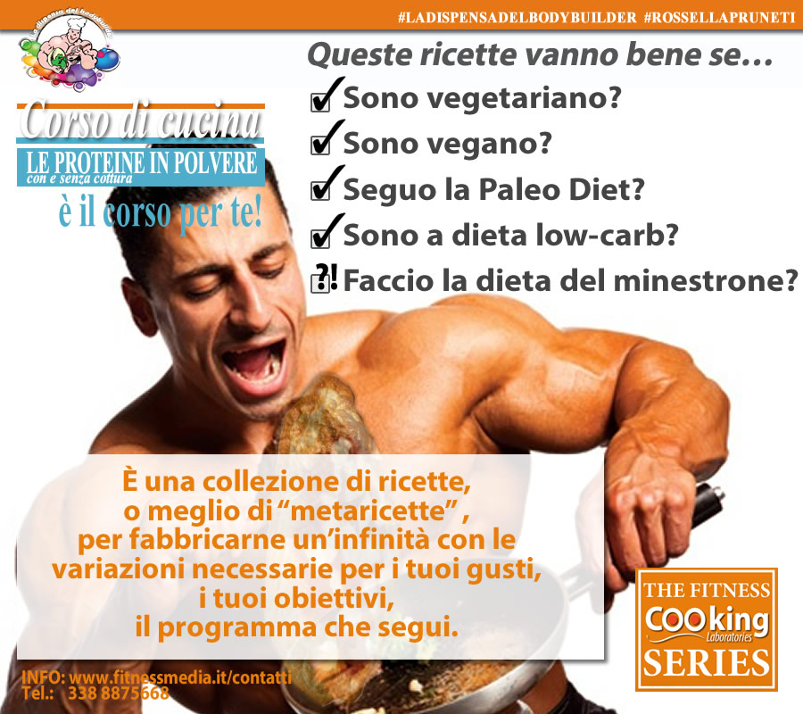 Cucinare con le proteine in polvere