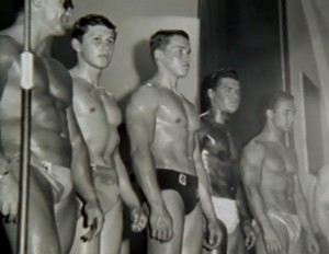 Arnold Schwarzenegger vince i  Junior Mr. Europe di Stoccarda (1965)
