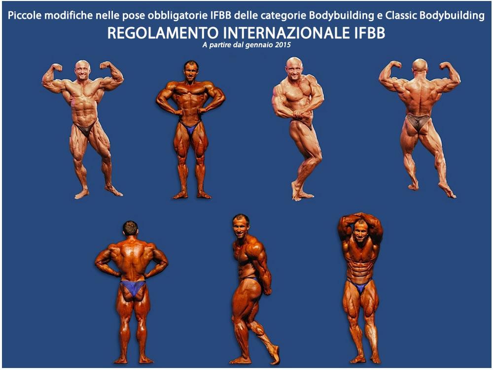 Piccole modifiche nelle pose obbligatorie delle categorie Bodybuilding e Classic Bodybuilding - 2015