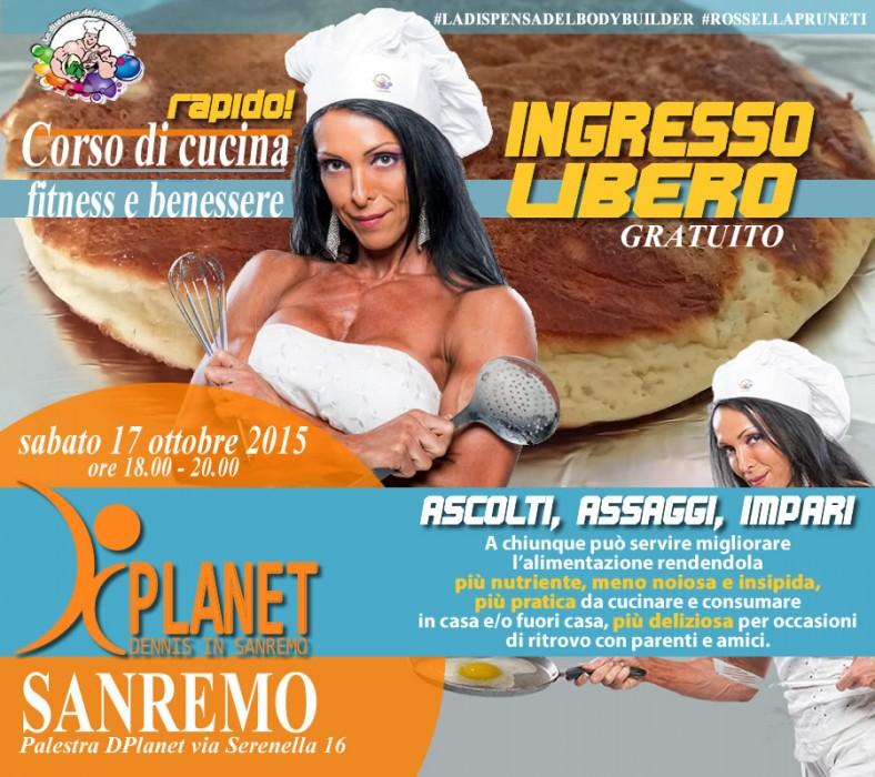 Corso rapido cucina fitness Dplanet Sanremo