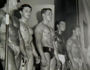 Arnold Schwarzenegger vince i  Junior Mr. Europe di Stoccarda (1965)
